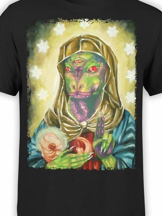 0699 Alien Shirt Blessed Reptilian Front Color
