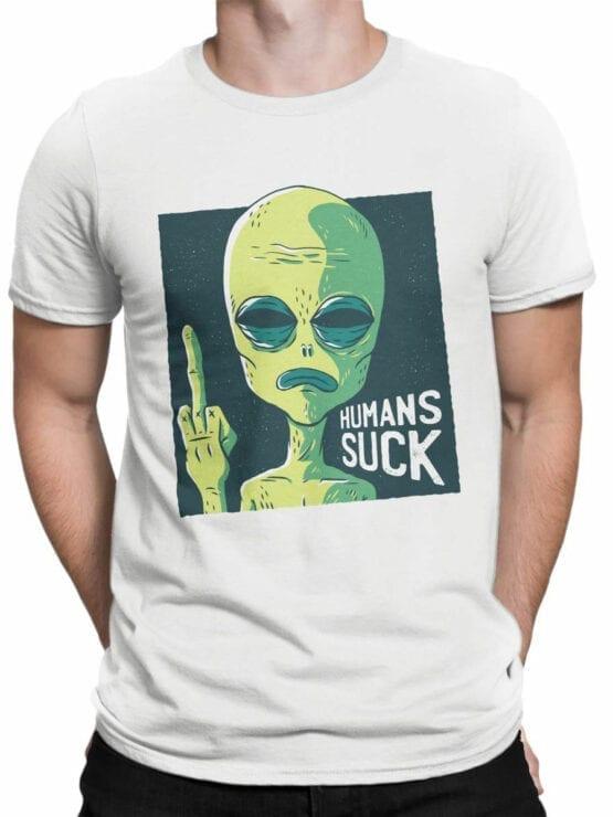 0711 Alien Shirt Human Suck Front Man