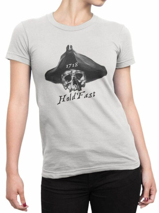0715 Pirate Shirt Hold Fast Front Woman