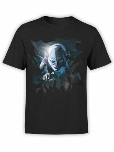 0718 Lord of the Rings Shirt Art Gollum Front