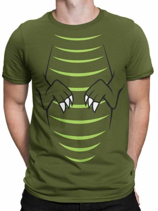 0723 Dinosaur T Shirt T Rex Front Man