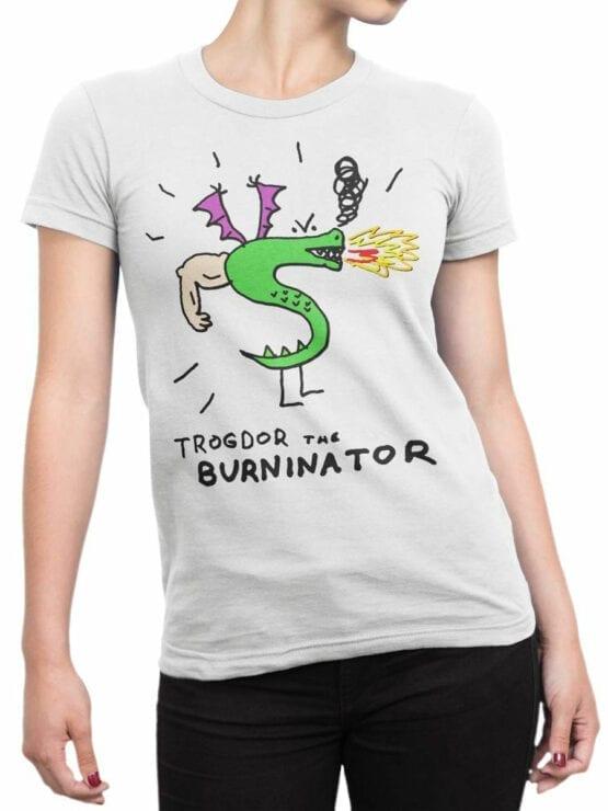 0726 Dragon Shirt Burninator Front Woman