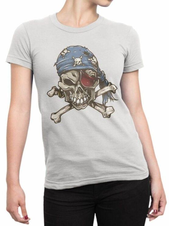 0727 Pirate Shirt Skull Front Woman