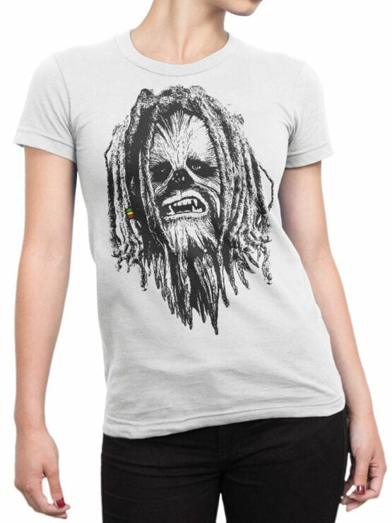 0730 Star Wars T Shirt Chewbacca Front Woman