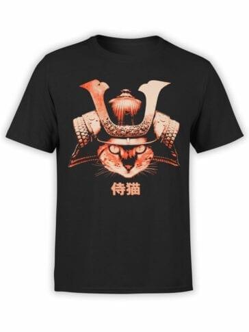 0739 Cat Shirts Samurai Front