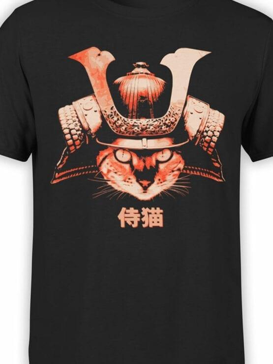 0739 Cat Shirts Samurai Front Color