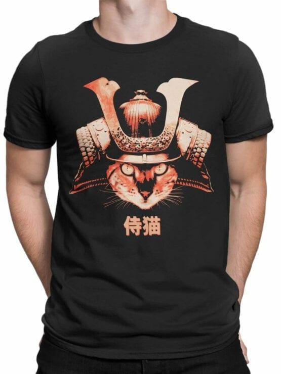 0739 Cat Shirts Samurai Front Man