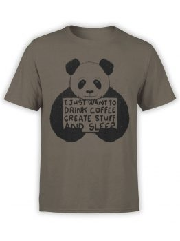 0740 Panda Shirt I just want Front
