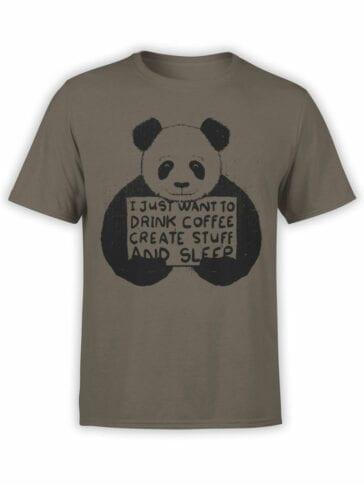 0740 Panda Shirt I just want Front