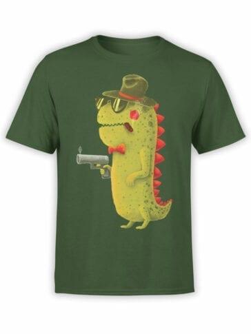 0741 Dinosaur T Shirt Gentleman Front