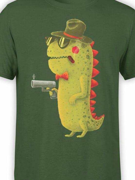 0741 Dinosaur T Shirt Gentleman Front Color