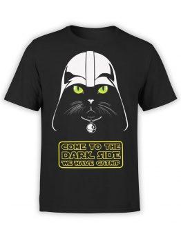 0744 Star Wars T Shirt Cat Vader Front