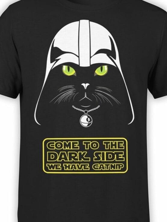 0744 Star Wars T Shirt Cat Vader Front Color