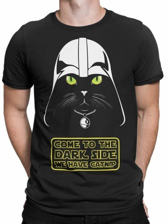 0744 Star Wars T Shirt Cat Vader Front Man