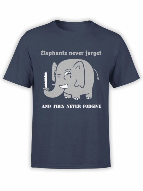 0746 Elephant Shirt Never Forget Front