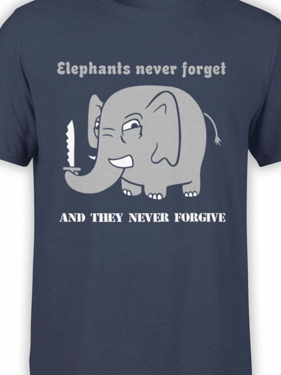 0746 Elephant Shirt Never Forget Front Color