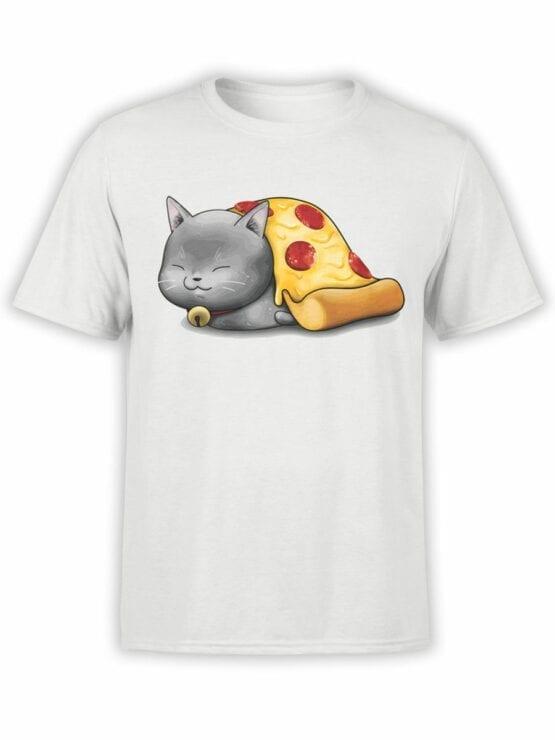 0747 Pizza Shirts Purr purr oni Front