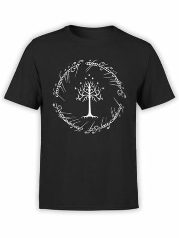0749 Lord of the Rings Shirt White Tree of Gondor Front
