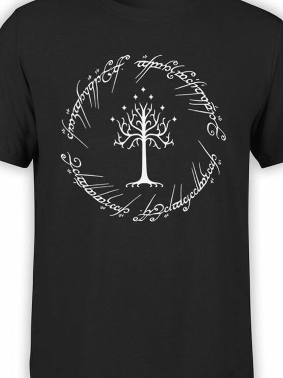 0749 Lord of the Rings Shirt White Tree of Gondor Front Color
