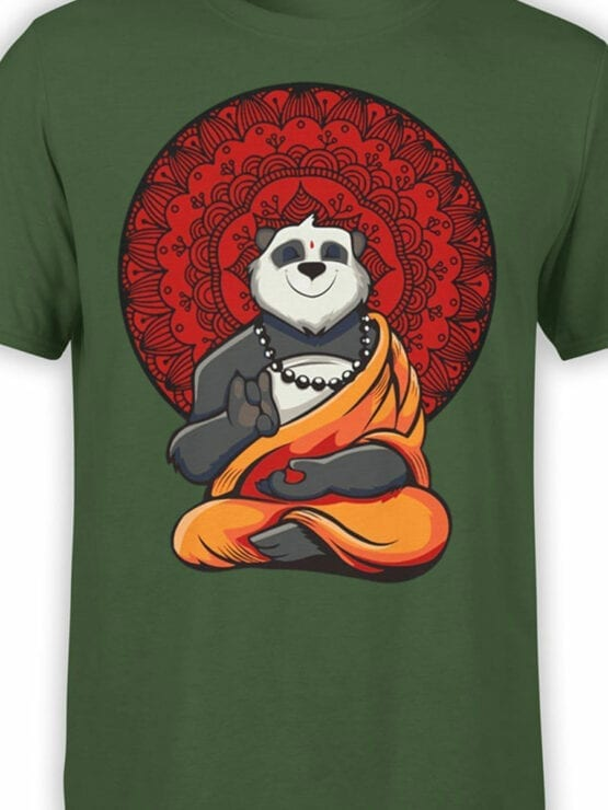 0801 Panda Shirt Meditation Front Color