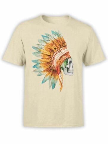 0804 Scull Shirt War Bonnet Front