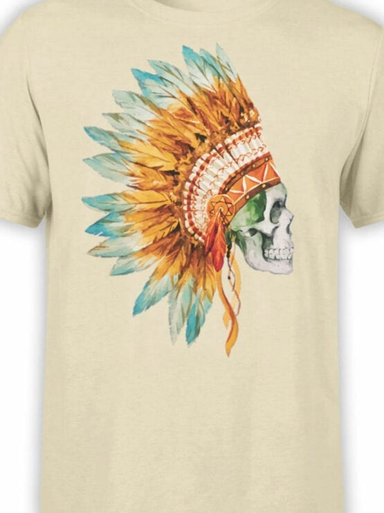 0804 Scull Shirt War Bonnet Front Color