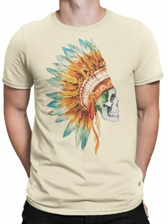 0804 Scull Shirt War Bonnet Front Man