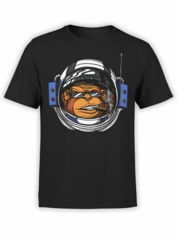 0805 NASA Shirt Monkeynaut Front