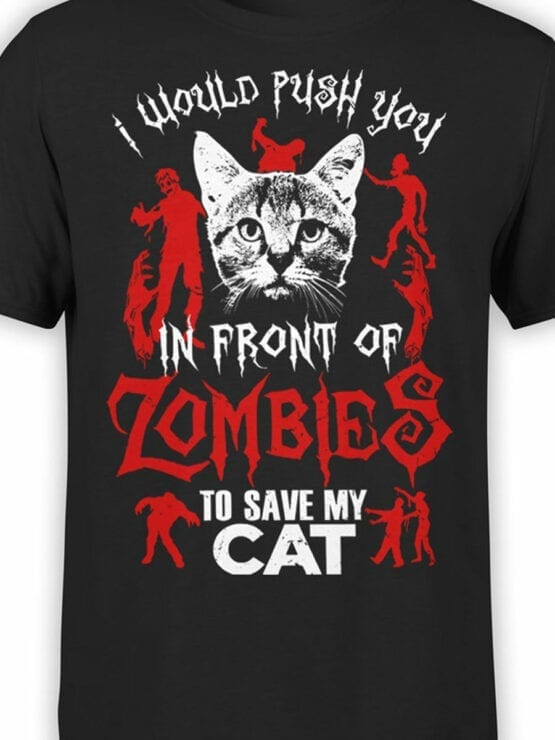 0808 Cat Shirts Zombies Front Color