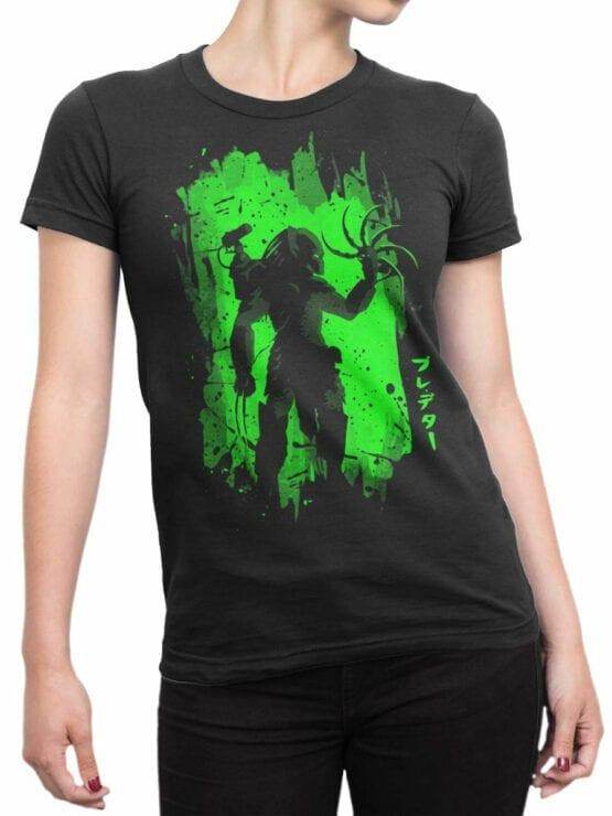 0811 Predator Shirt Night Front Woman