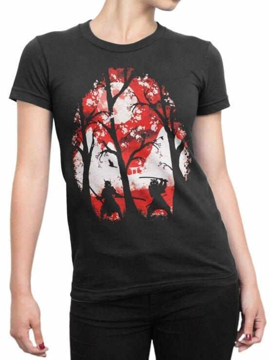 0816 Samurai Shirt Battle Front Woman
