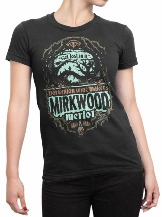 0817 Lord of the Rings Shirt Mirkwood Front Woman