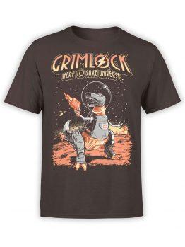 0818 Dinosaur T Shirt Dinobot Front