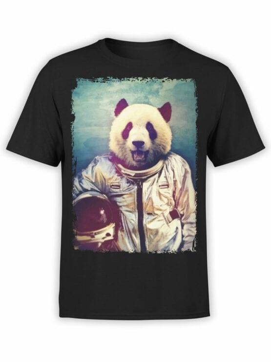 0819 Panda Shirt Astronaut Front