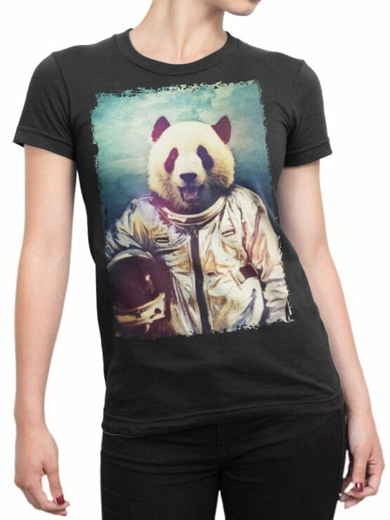 0819 Panda Shirt Astronaut Front Woman