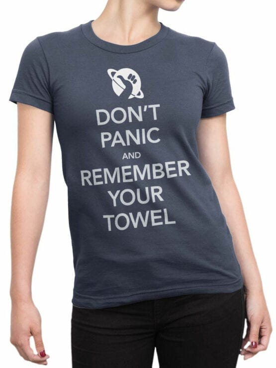 0824 The Hitchhikers Guide to the Galaxy Dont Panic Front Woman
