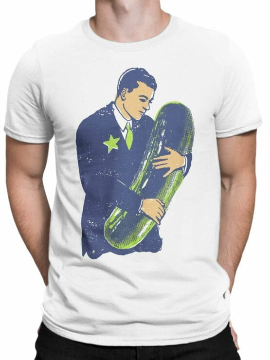0827 Funny T Shirts Love The Pickle Front Man