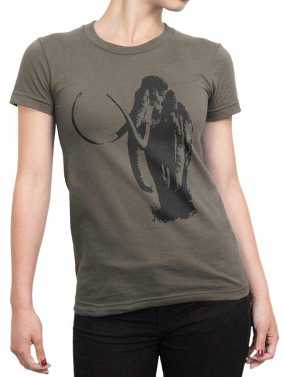 0833 Elephant Shirt Mammoth Front Woman