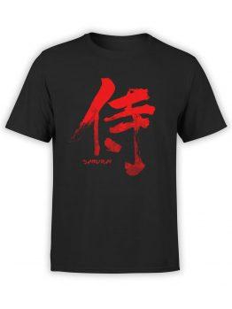 0834 Samurai Shirt Hieroglyph Front