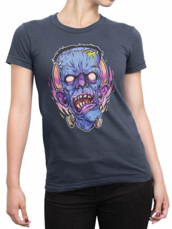 0835 Monster Shirt Frank Front Woman