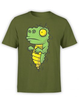 0837 Dinosaur Shirt Dino in the Bush Front