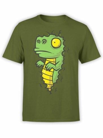 0837 Dinosaur Shirt Dino in the Bush Front