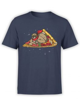 0838 NASA Shirts Sloth Pizzanaut Front