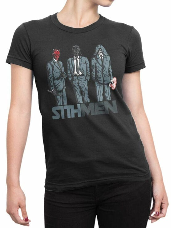 0840 Star Wars T Shirt Sithmen Front Woman