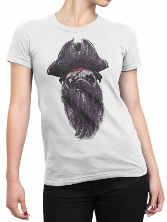 0842 Pirate Shirt Pugrate Front Woman