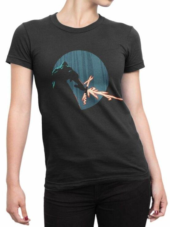 0845 Star Wars T Shirt Kylo Ren Swiss Knife Front Woman
