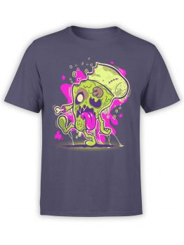 0850 Monster Shirt Zombie Pizza Front
