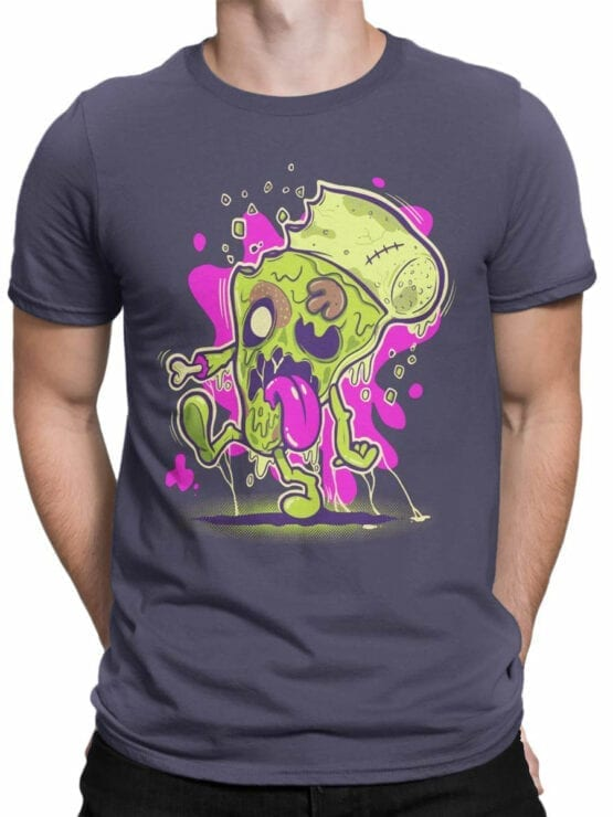 0850 Monster Shirt Zombie Pizza Front Man