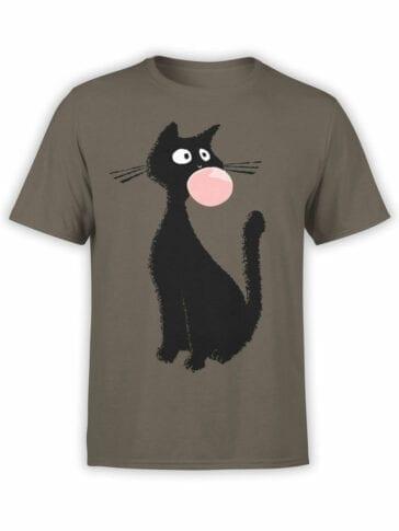 0851 Cat Shirts Gum Front