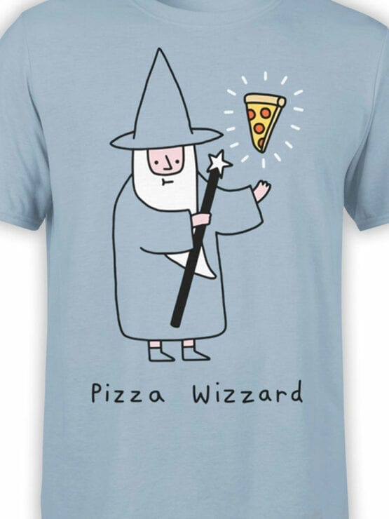 0852 Pizza Shirt Wizzard Front Color